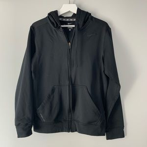 Black nike zip up size small